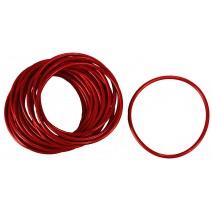 Anelli in gomma colore rosso - confezione 100 pezzi